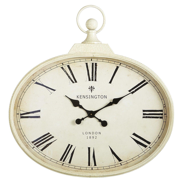 Antiqued Ivory Wall Clock Pier1 Us Wall Clock Antique Wall Clock Clock