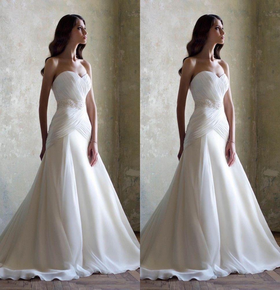 Cheap wedding dresses plus size  Cheap Wedding Dresses Plus Size Sexy Sweetheart Crystal