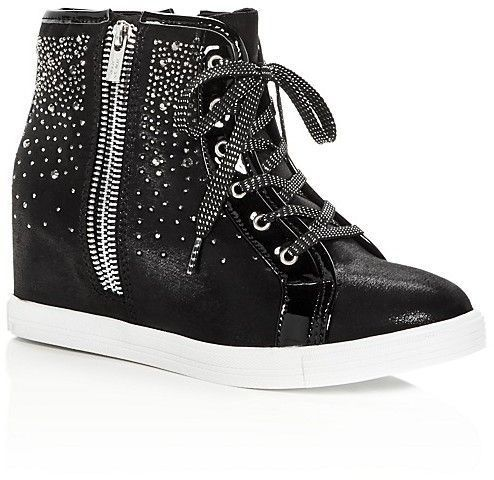 Stuart Weitzman Embellished Wedge High-Top Sneakers 100% guaranteed cheap online free shipping with mastercard nOiTZ