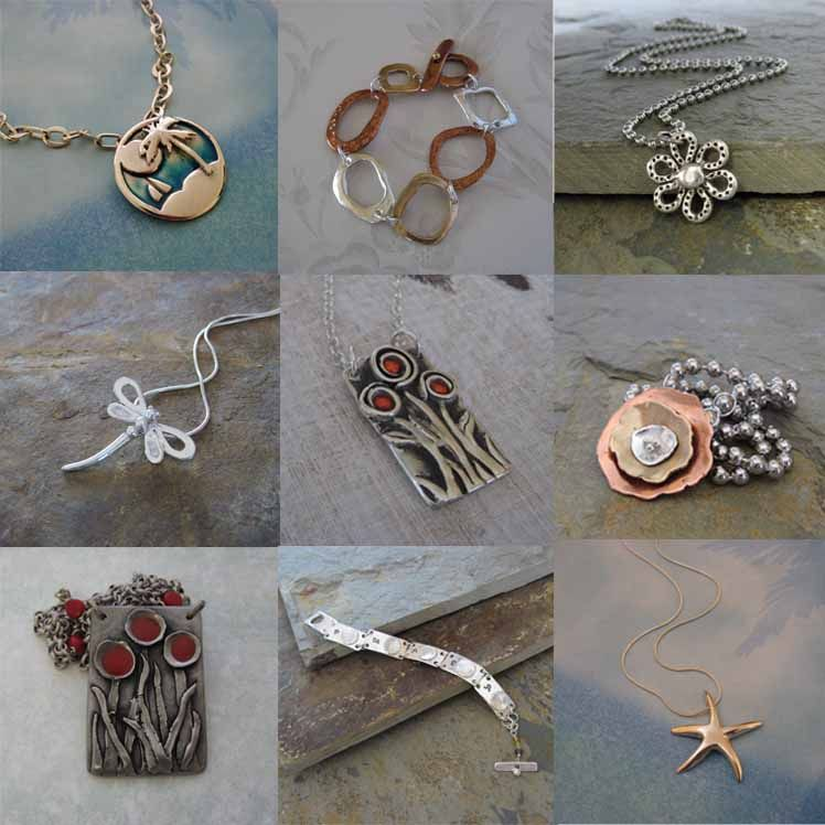 Handmade Silver Bronze Handmade Artisan Jewelry by Cheryl Frazee, Island Girl Expressions, Silver, Copper, Bronze, Steel, Original, Unique, Custom