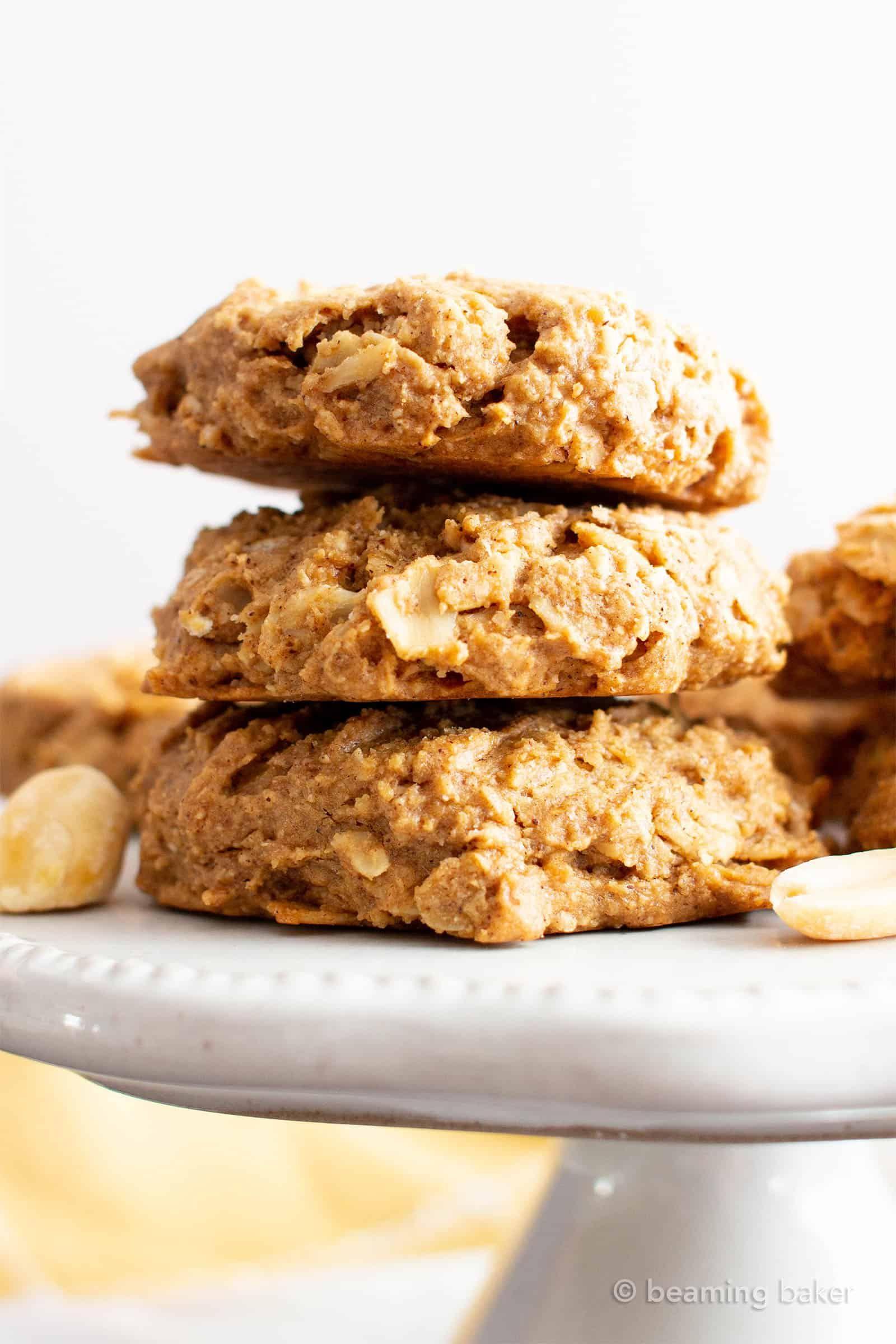 Oil Free Peanut Butter Oatmeal Breakfast Cookies V Gf Chewy N Healthy Breakfast Breakfast Cookies Gluten Free Peanut Butter Oatmeal Cookies Vegan Cookies