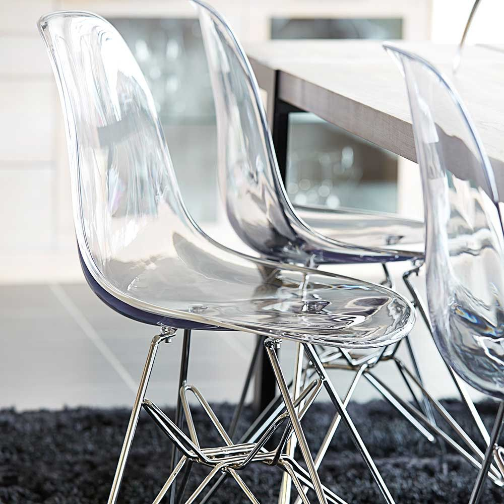 Stuhl Mit Sitzschale Aus Acrylglas Auf Pharao24.de Entdecken.  Durchsichtiger Stuhl Aus Acryl.