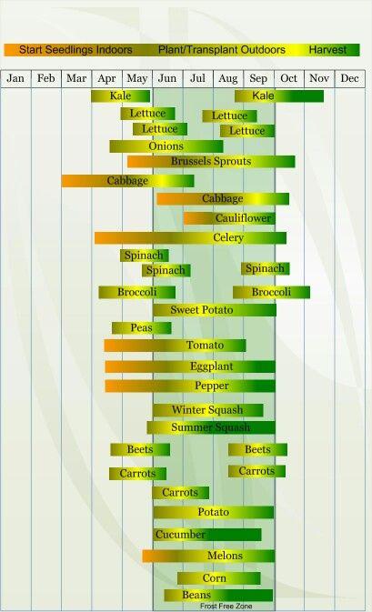 Zone 5 Nebraska Planting Chart Vegetable Planting Calendar
