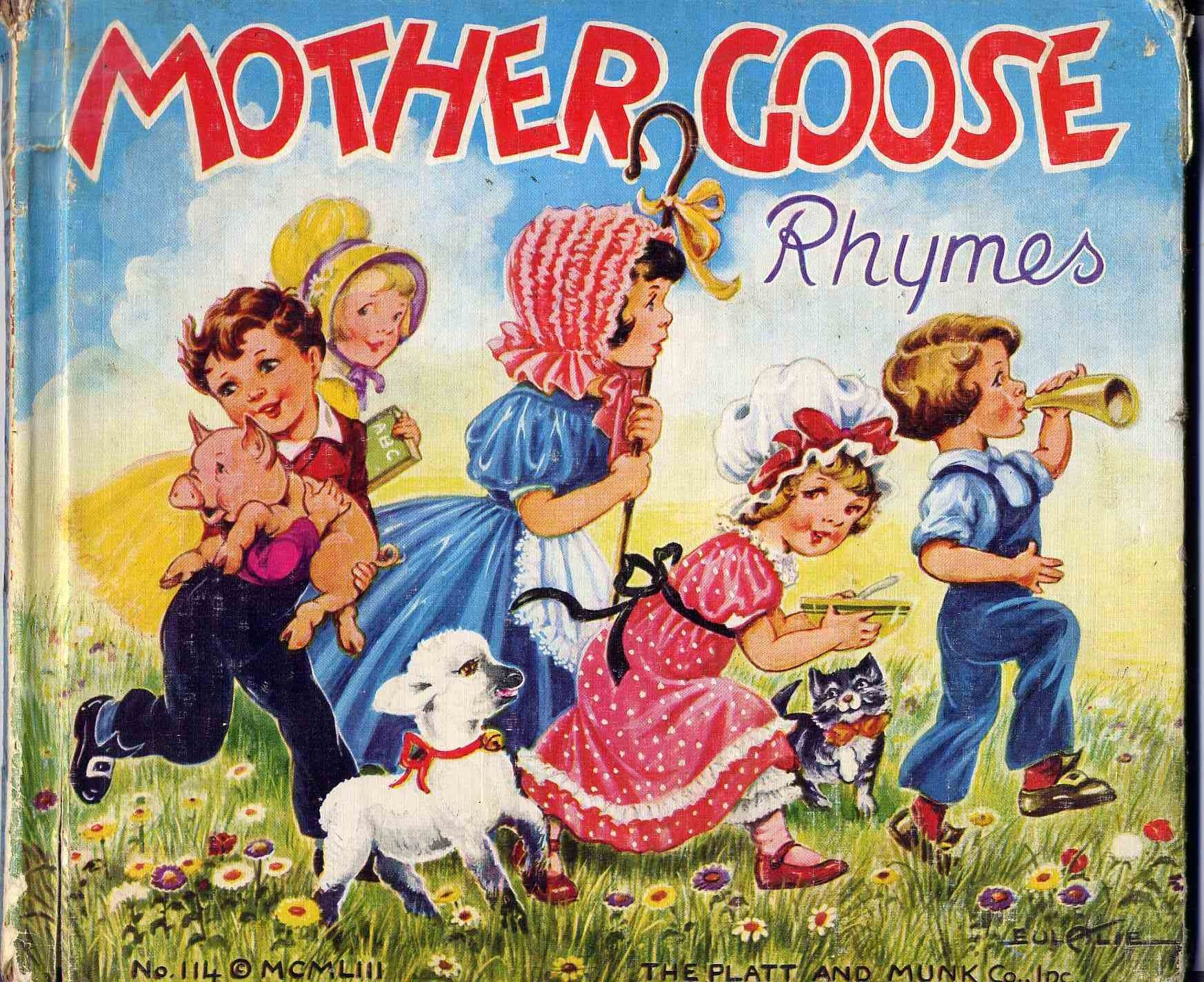 Mother Goose Rhymes illustrated by Eulalie, 1953, published by Platt and Munk