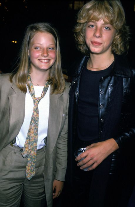 Jodi Foster and Leif Garrett at the Grease party in 1978