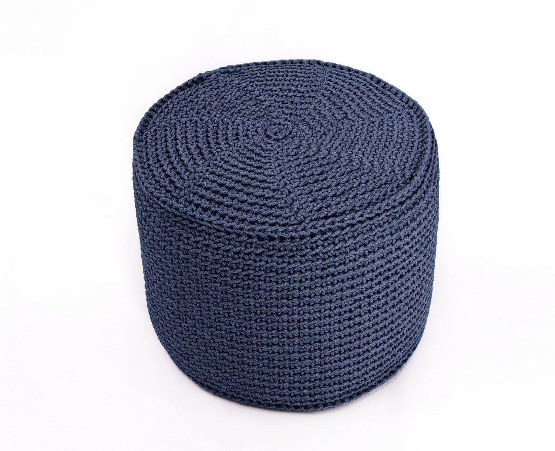 Gehakelte Konig JEANS Grosse Hocker Polyester Boden Kissen Hypoalergic Seil Puh Bean Bag Chair Ottoman Rustikale