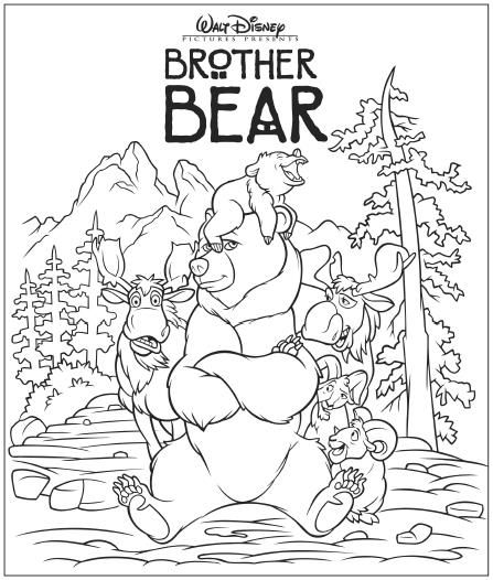 brother bear coloring pages brother bear coloring page   Google Search | Free printables  brother bear coloring pages