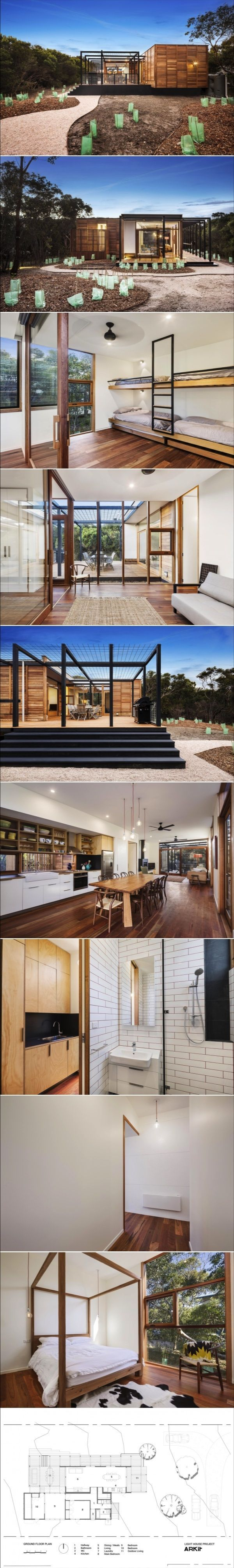 This prefab house solves the age old problem of open plan living also rh pinterest