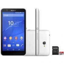 """Smartphone Sony Xperia E4 Dual Dual Chip 3G - Android 4.4 Câm. 5MP Tela 5"""" + Cartão 16GB"""