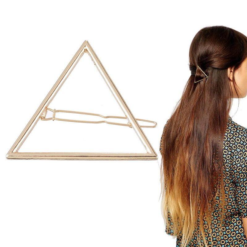 vêtements de sport de performance Acheter Authentic moderne et élégant à la mode Epingle à Cheveux Barrette Pince Triangle Doré Femme ...