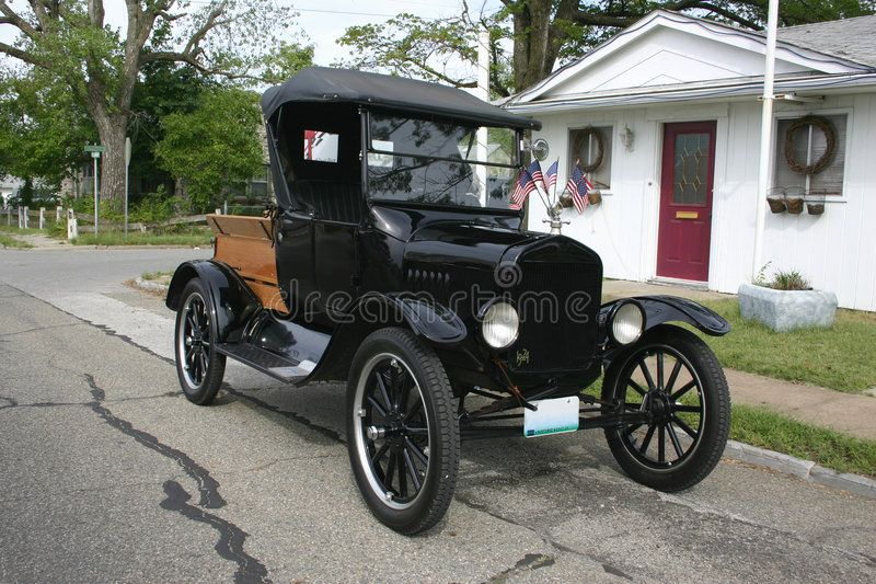 1924 Ford Model T Pickup Truck With Wooden Wheels And A Wooden