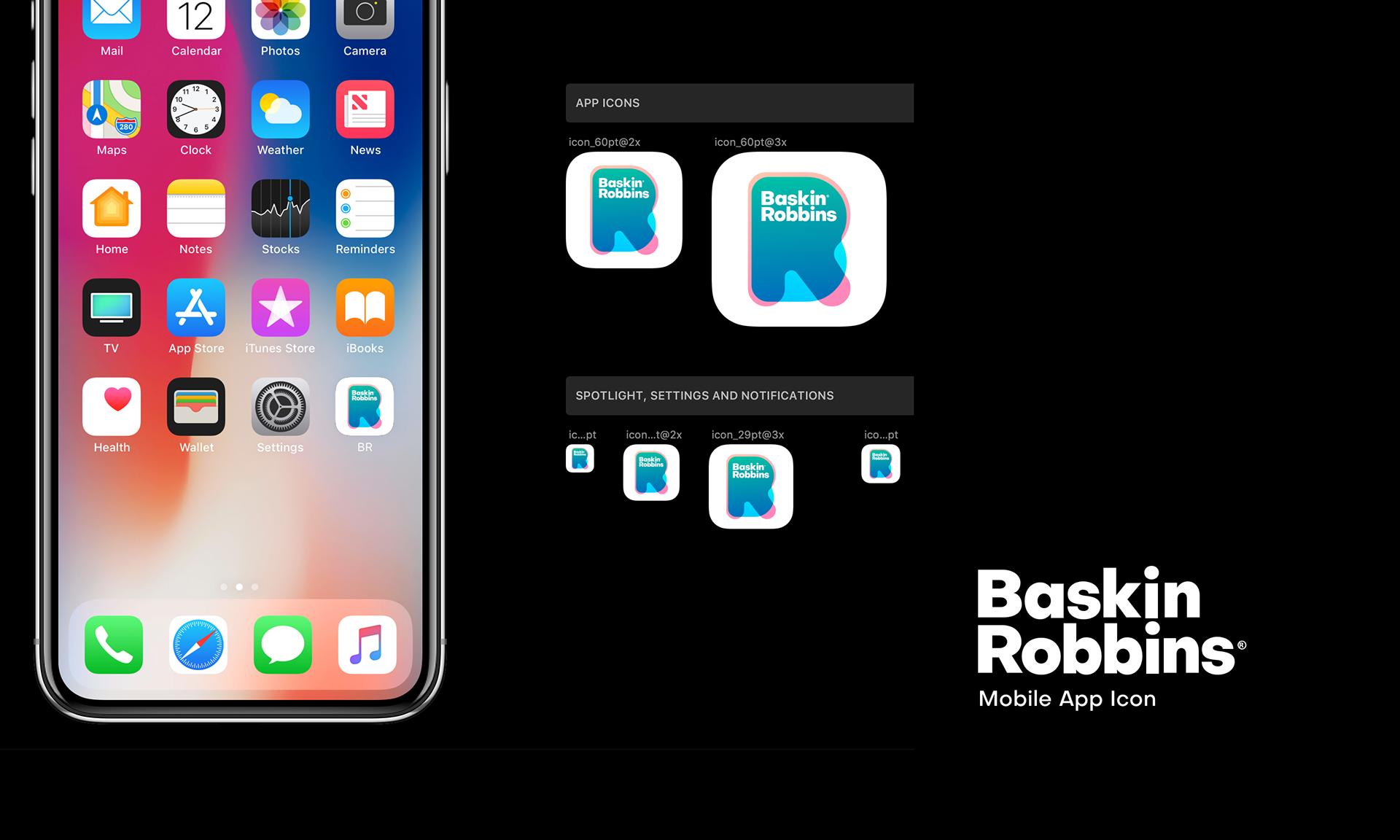 Baskin Robbins Rebranding On Behance Baskin Robbins Baskin Robbins Logo Rebranding