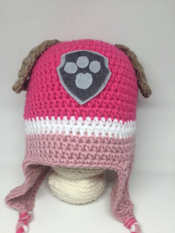 Lujoso Crochet Patrón De Sombrero De Cola Larga Bosquejo - Manta de ...