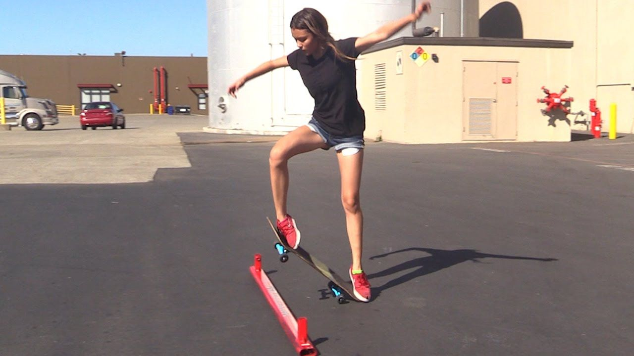 Girl Learns Her First Skateboard Tricks Ep 3 Ollie First Steps Skateboarding Tricks Beginner Skateboard Skateboard