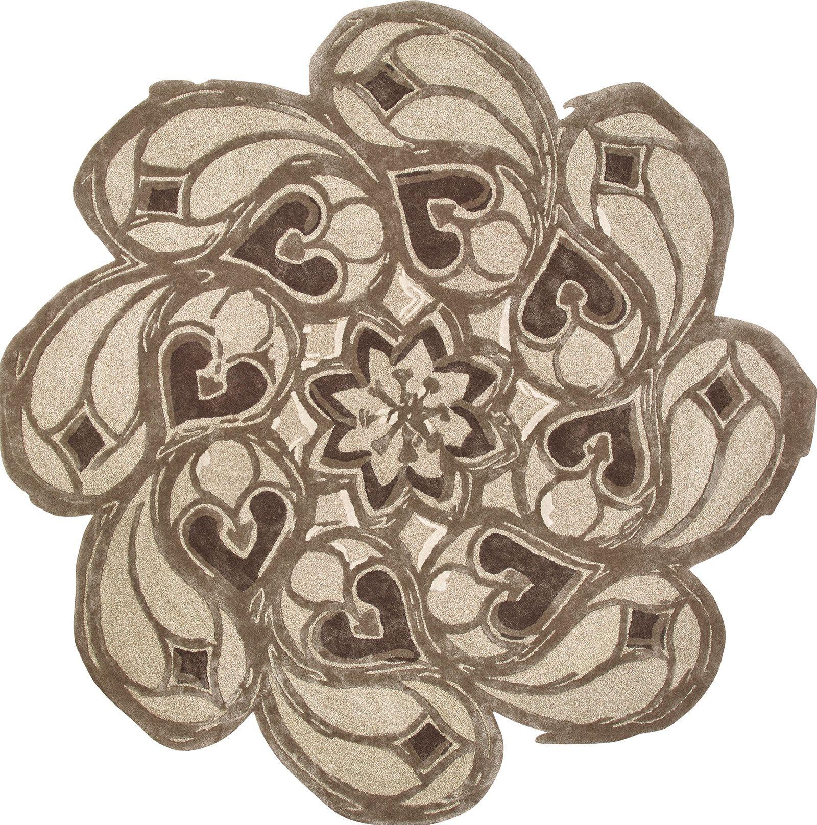 Flower tappeto contemporaneo rotondo Italy Dream Design
