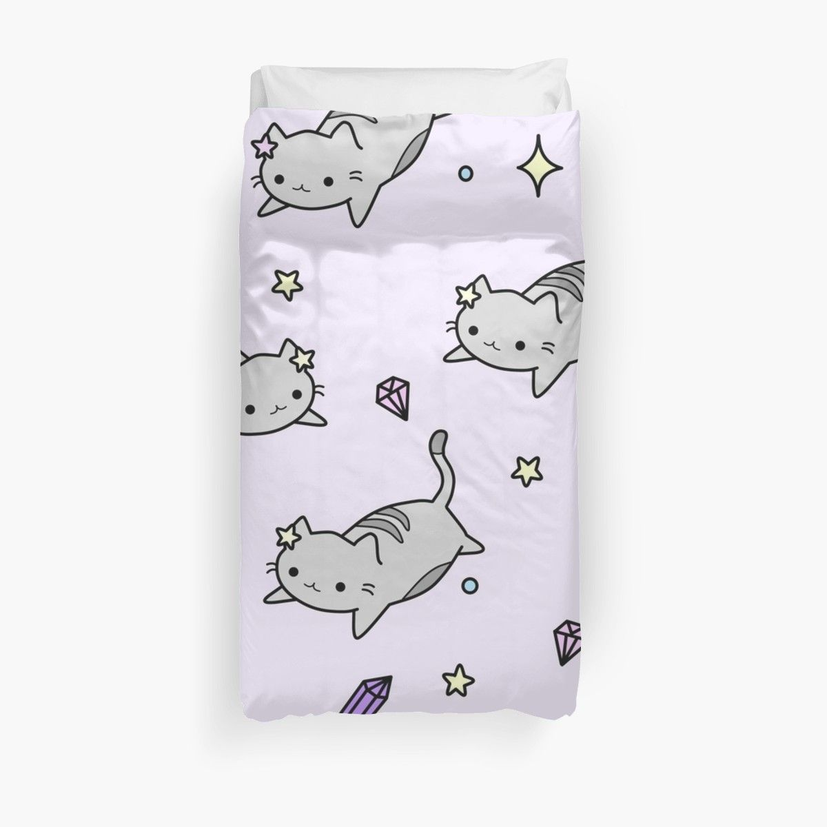Cute Kawaii Cat Pattern Duvet Cover Duvet Cover Design
