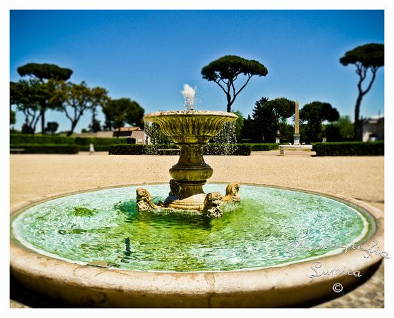 Villa Medici Fountain Rome Dreamy Travels Pinterest