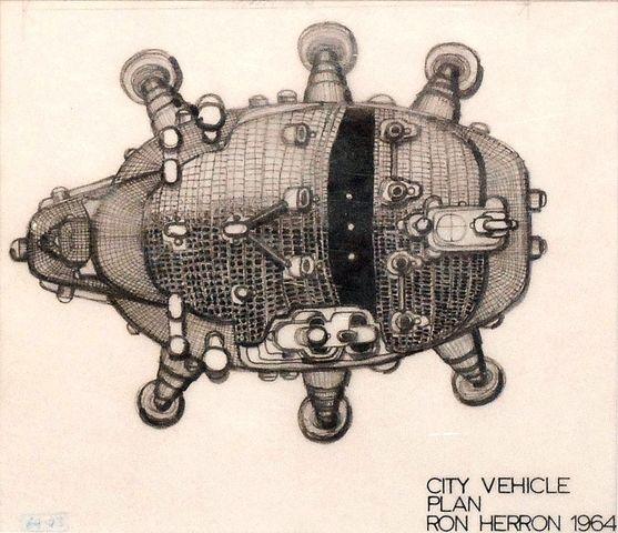 """В рамках """"аркигрэм"""" [Рон Херрон]   ходьба Сити - плана автомобиль   1964"""