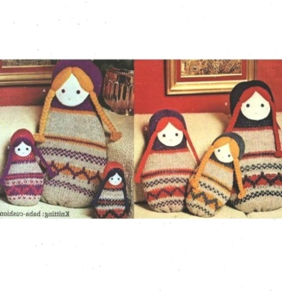 INSTANT DOWNLOAD PDF Vintage Knitting Pattern Russian Doll ...