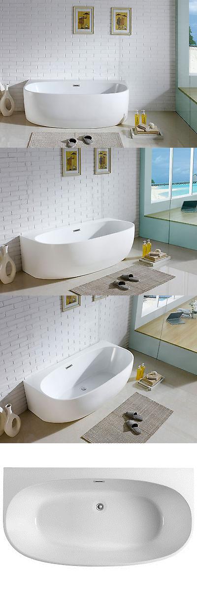 Bathtubs 42025: Monte 58 X 33 White Oval Soaking Bathtub By ...
