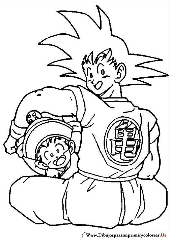 Dibujos de Dragon Ball Z para Imprimir y Colorear  Coloring Pages