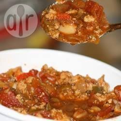 Chili de dinde facile | Recipe | Recipes, Turkey chilli ...