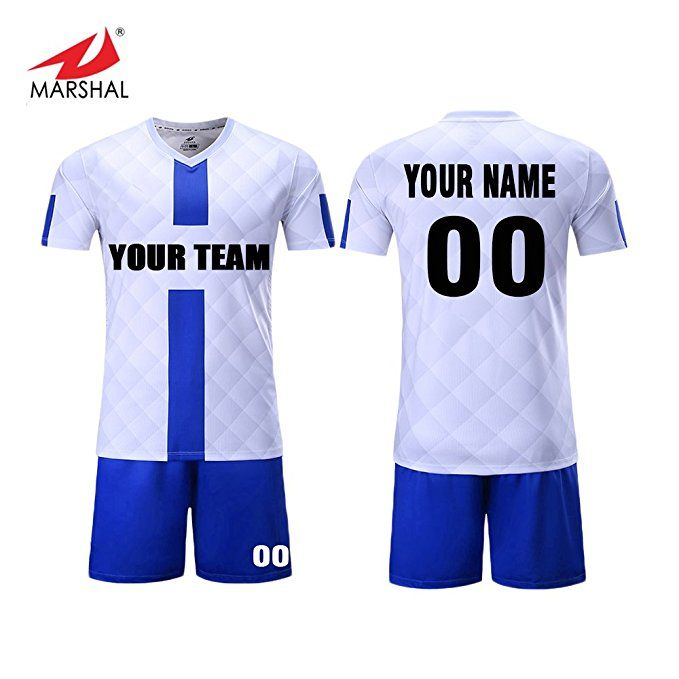 24dcfdfad0c0c Marshal Jersey Custom Team Soccer Jerseys Set Sublimation Sportswear Fabric  Custom Men's Training Uniform Suit Jersey+Shorts Custom Your Team Name, ...
