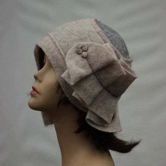Designer Hat Felted Hat Cloche hat Felted Hat Art Hat Art