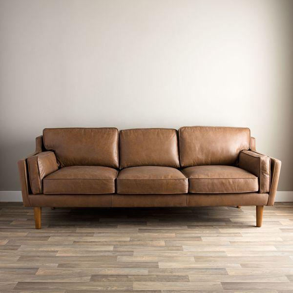 leather loveseats beatnik oxford leather tan sofa overstockcom shopping the