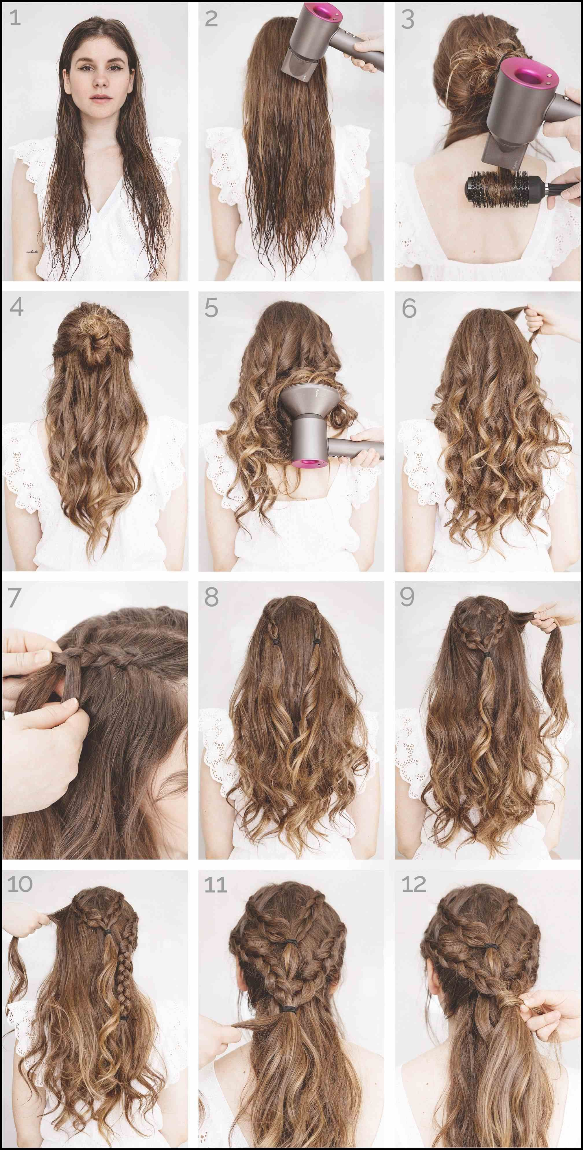 Schönes Frisuren-Tutorial #zöpfe #langehaare #naturlocken