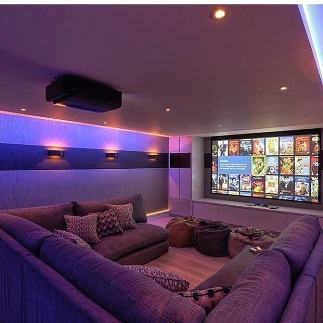 Basement Home Theater Family Room #basement #hometheater