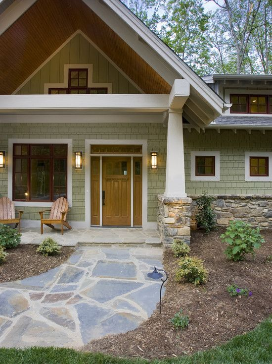 Exterior Paint Colors Dark Brown love this stone path! [ranch house exterior paint colors design