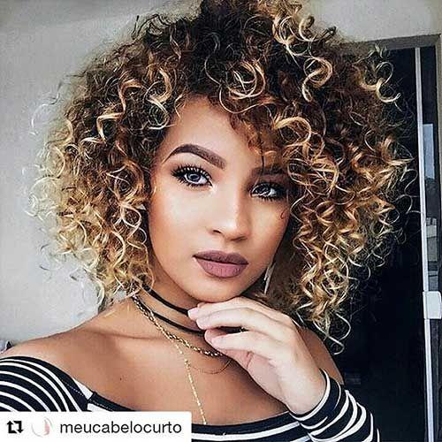 30 Cool Short Naturally Curly Hairstyles Frisuren Naturliche