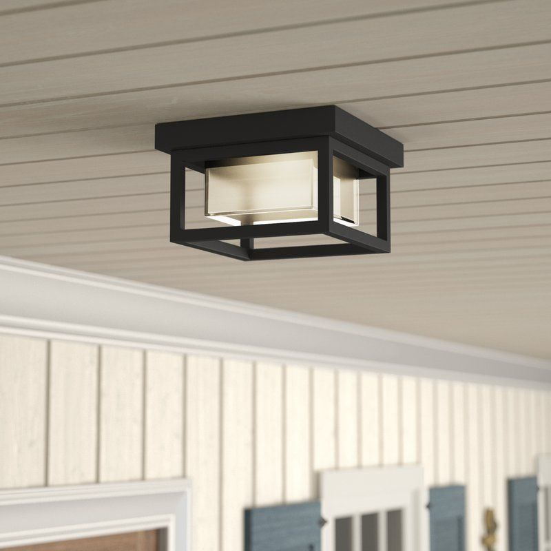 Tecca Led Outdoor Flush Mount Outdoor Ceiling Lights Outdoor Flush Mounts Porch Light Fixtures