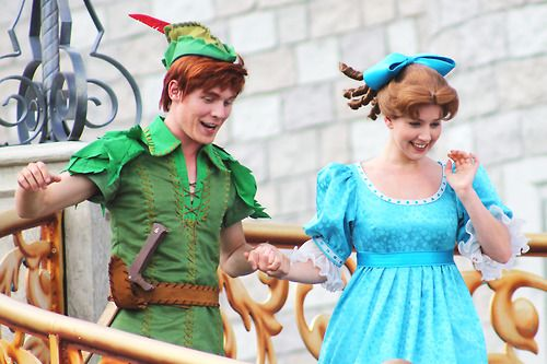 Peter Pan and Wendy Darling Face Characters