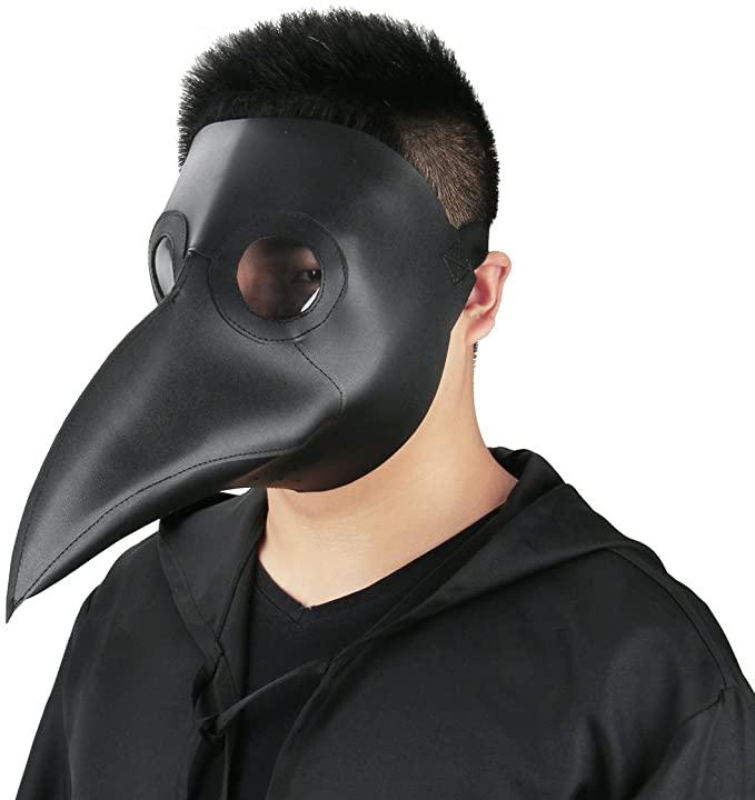 Amazon Com Plague Doctor Mask Birds Long Nose Beak Faux Leather Steampunk Halloween Costume Props Black Plague Doctor Mask Plague Doctor Costume Doctor Mask