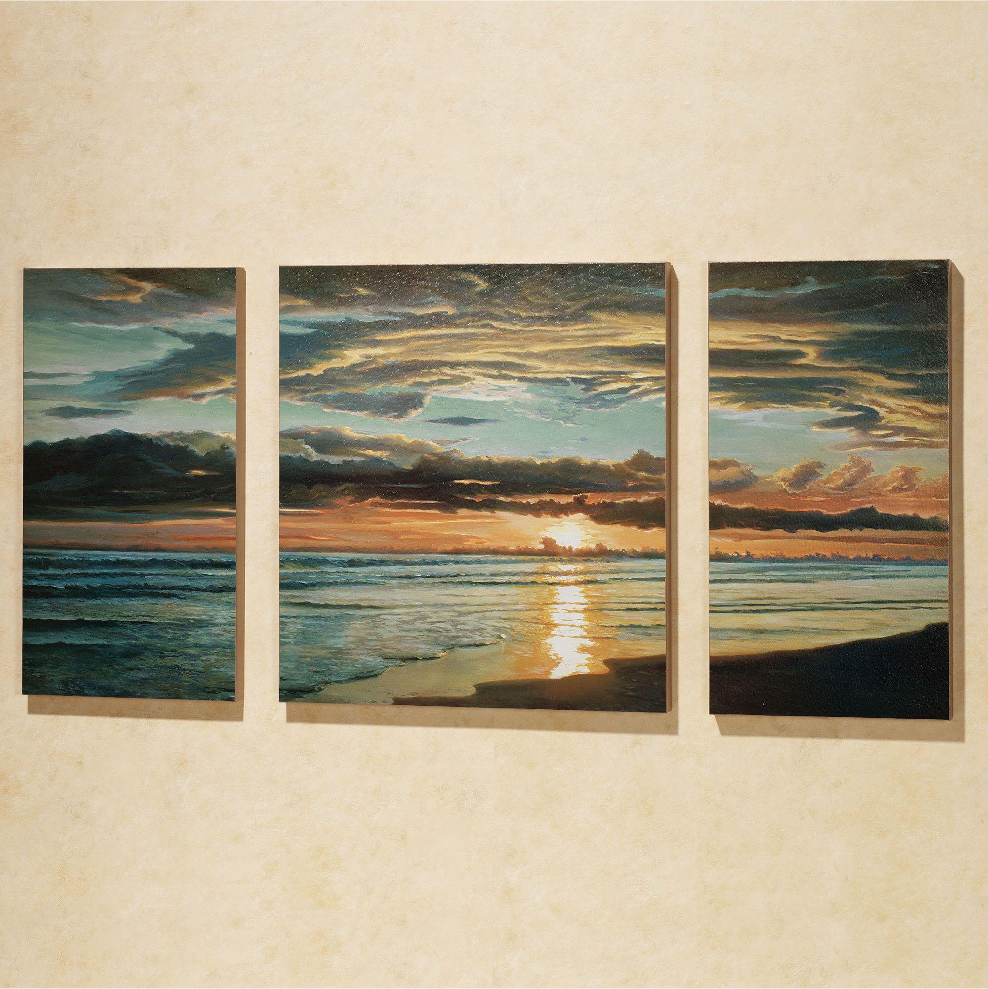 Quiet Skies Triptych Canvas Art Set