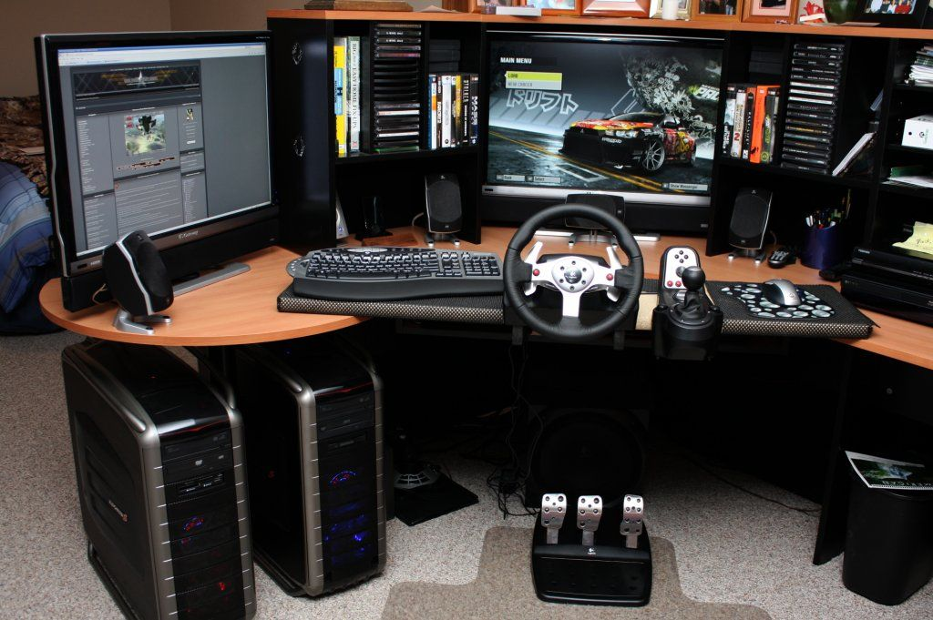 15 Envious Home Computer Setups Video Game Rooms Game