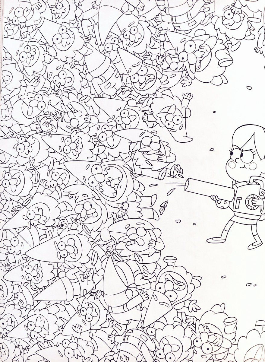 Image Result For Gravity Falls Coloring Pages Art In 2019