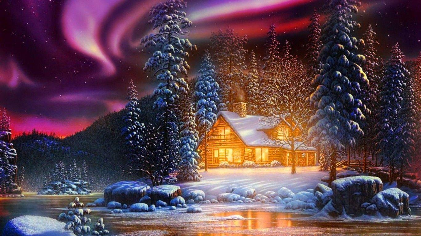 Winter Landscape Hd Desktop Wallpaper Widescreen High Definition Fullscreen Winter Landscape Scenery Wallpaper Northern Lights Wallpaper