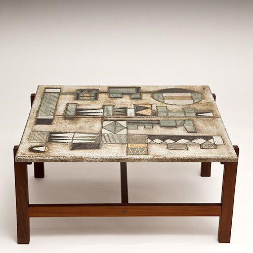 les 2 potiers table basse c ramique ann es 50 pinterest. Black Bedroom Furniture Sets. Home Design Ideas
