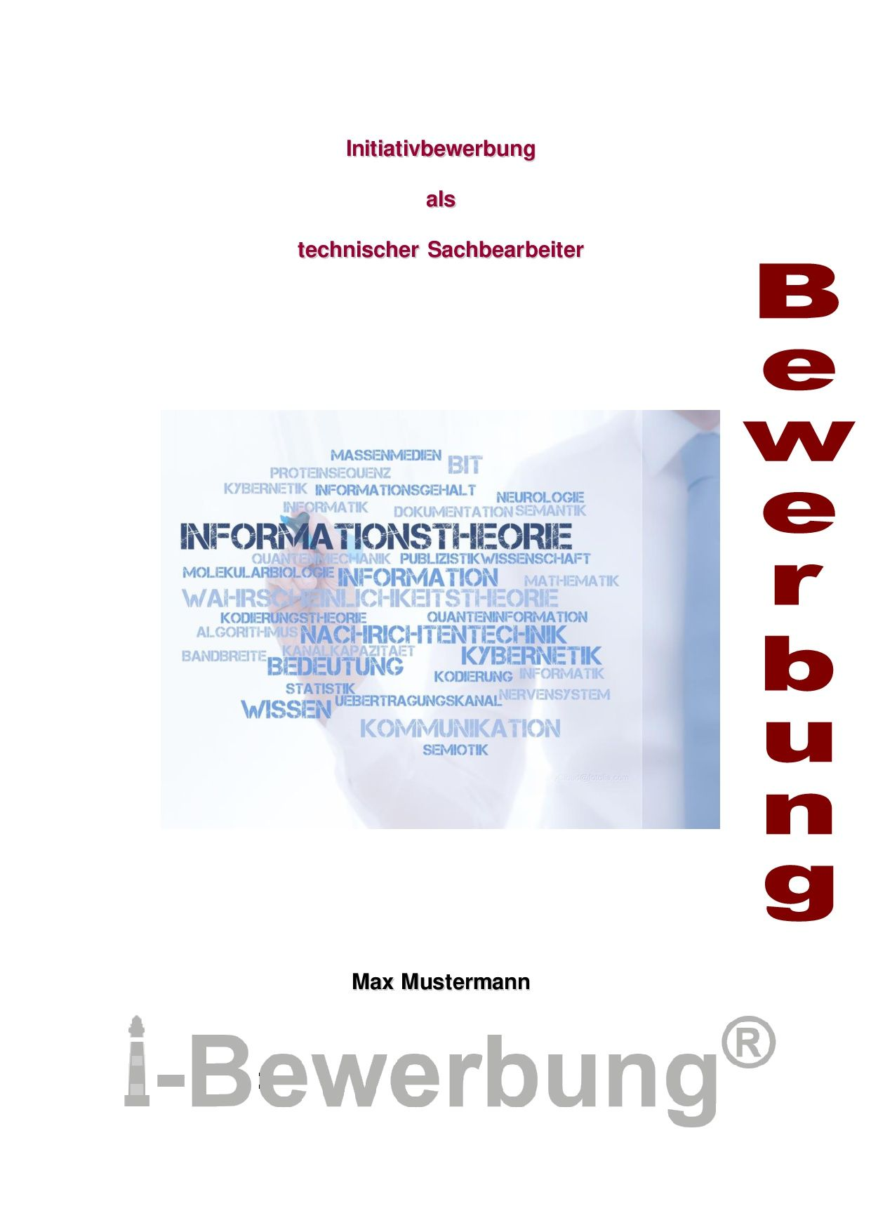 Deckblatt zur Initiativbewerbung als technischer Sachbearbeiter ...