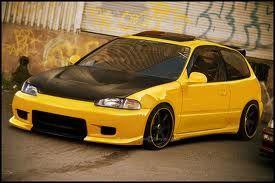 Honda Civic EG Black & Yellow