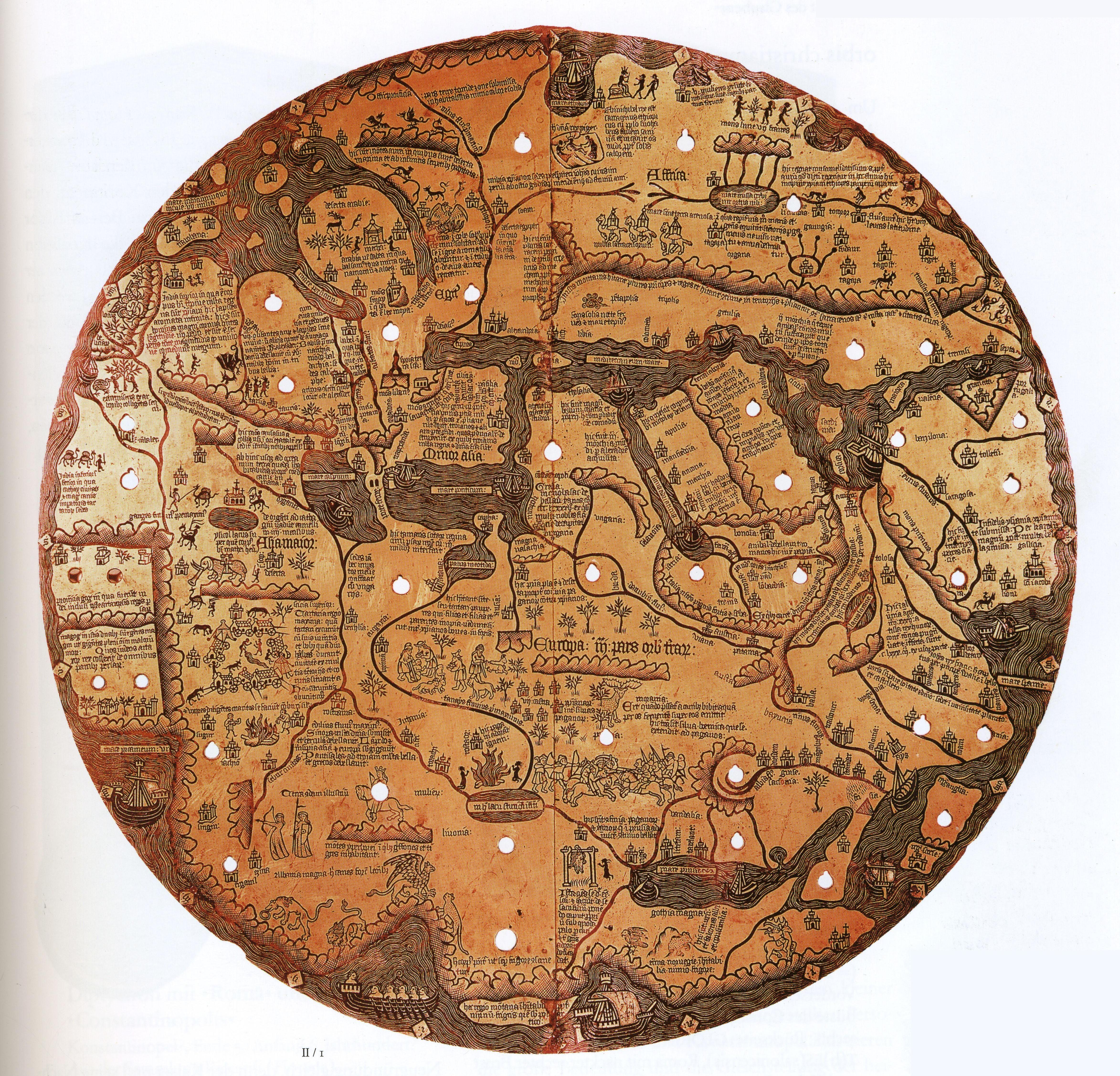 The Mappamondo Borgiano anonymous 15th century map