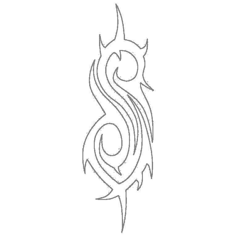 Slipknot Logo Outline Slipknot Logo Slipknot Tattoo Logo Outline
