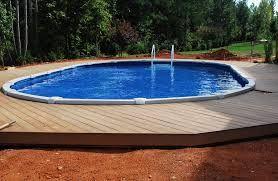 Semi Inground Pools Modern Google Search Backyard