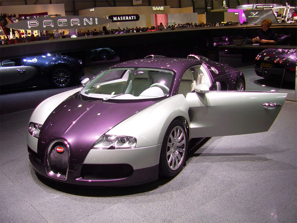 Vehicle · Purple Bugatti Veyron ...