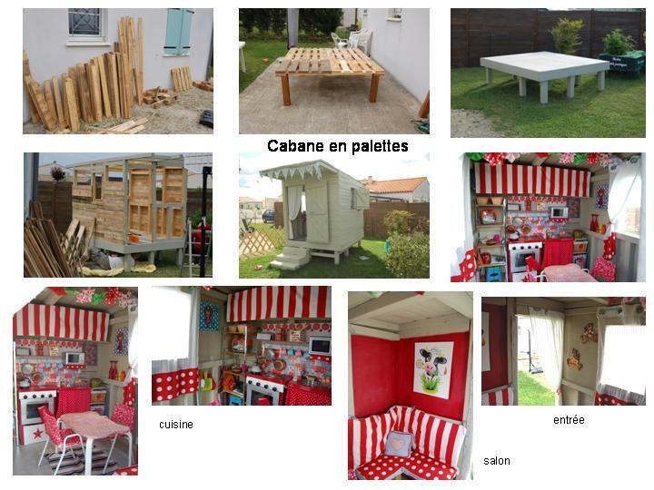 diy cabane en palette enfants pinterest palette cabanes et diy. Black Bedroom Furniture Sets. Home Design Ideas