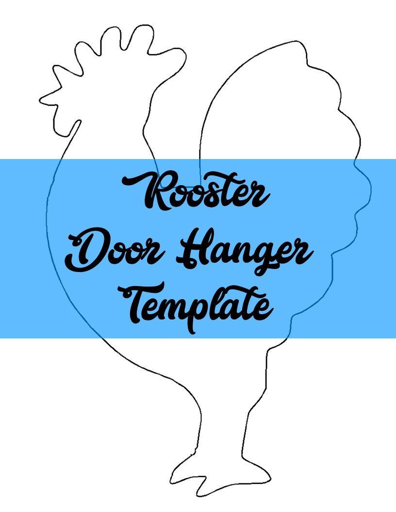 Rooster Door Hanger TEMPLATE | Door Hanger Templates | Pinterest ...