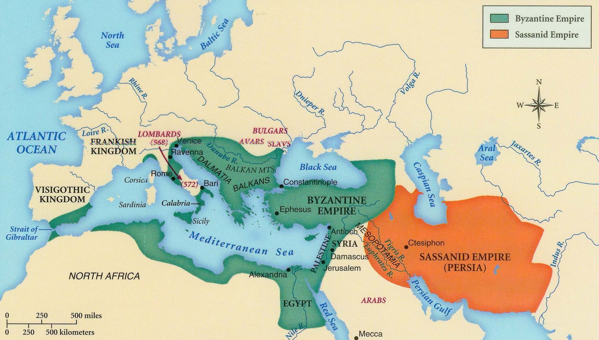 Byzantium And The Abbasids Had Crumbled The Byzantine